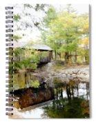 Lovejoy Covered Bridge And Moose Spiral Notebook