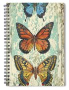 Lovely Butterfly Trio On Tin Tile Spiral Notebook