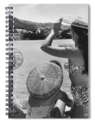 Lovely Ladies In Cha Cha Hats Spiral Notebook