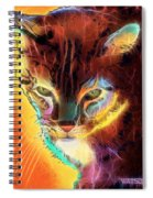 Lovely Lulu The Cat Spiral Notebook
