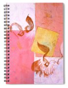 Lovers Dance 2 In Sienna And Pink  Spiral Notebook