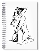 Lovers Expressionism Spiral Notebook