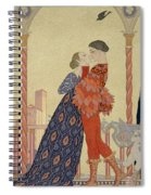 Lovers On A Balcony  Spiral Notebook