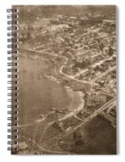 Aerial Of Lovers Point And Pacific Grove California July 10 1906 Spiral Notebook