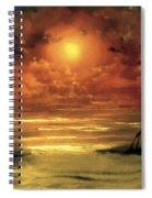 Lovers Sunset Spiral Notebook