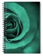 Love's Eternal Teal Green Rose Spiral Notebook