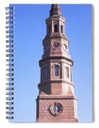 Low Angle View Of A Church, St. Philips Spiral Notebook