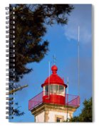 Low Angle View Of A Lighthouse, Morgat Spiral Notebook