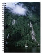 Low Angle View Of A Mountain, Milford Spiral Notebook
