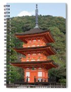 Low Angle View Of A Small Pagoda Spiral Notebook