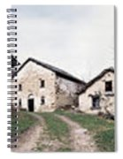 Low Angle View Of Houses In A Village Spiral Notebook