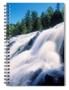 Low Angle View Of The Bond Falls Spiral Notebook