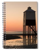 Low Lighthouse Sunset Spiral Notebook