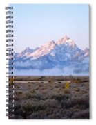 Low Sunrise Clouds Spiral Notebook