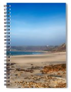 Low Tide At Sennen Cove Spiral Notebook