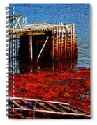 Low Tide - Red Seaweed - Fishing - Moratorium Spiral Notebook