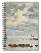 Low Tide Saint Vaast La Hougue Spiral Notebook