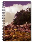 Low Tide Shoreline Closeup With Clouds Spiral Notebook