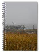 Lowcountry Marsh Fog Spiral Notebook