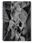 Lower Antelope Glow Black And White Spiral Notebook