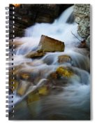 Lower Apikumi Falls Glacier National Park Spiral Notebook