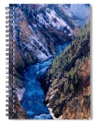 Lower Falls Into Yellowstone River Spiral Notebook