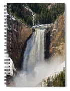 Lower Falls Of The Yellowstone Spiral Notebook
