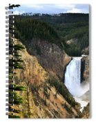 Lower Falls On The Yellowstone River Spiral Notebook