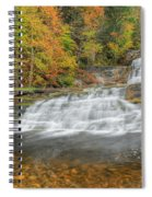 Lower Kent Falls Square Spiral Notebook