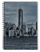 Lower Manhattan And The Freedom Tower Spiral Notebook