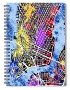 Lower Manhattan Map Spiral Notebook