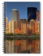Lower Manhattan Skyline Spiral Notebook