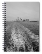 Lower New York In Black And White Spiral Notebook