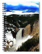 Lower Yellowstone Falls Spiral Notebook