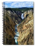 Lower Yellowstone Falls Panorama 2 Spiral Notebook