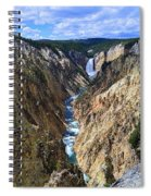 Lower Yellowstone Falls Panorama Spiral Notebook