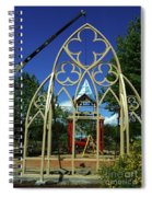 Lowering The Steeple Spiral Notebook