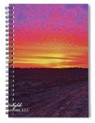 Loxley Al Sunset Dec 2013 I Spiral Notebook