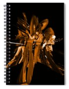 Ls Spo #68 Enhanced In Amber Squished Spiral Notebook