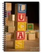 Lucas - Alphabet Blocks Spiral Notebook
