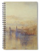 Lucerne From The Lake Spiral Notebook