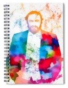 Luciano Pavarotti Paint Splatter Spiral Notebook
