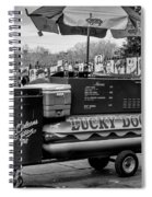 Lucky Dogs In Jackson Square Nola Bw Spiral Notebook