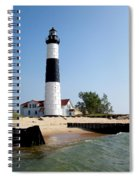 Ludington Michigan's Big Sable Lighthouse Spiral Notebook
