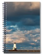 Ludington North Breakwater Lighthouse At Sunrise Spiral Notebook