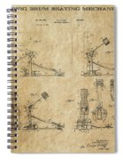 Ludwig Drum Pedal 3 Patent Art 1951 Spiral Notebook