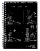 Ludwig Drum Pedal 4 Patent Art 1951 Spiral Notebook