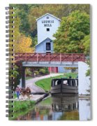 Ludwig Mill And Canal Boat  1480 Spiral Notebook