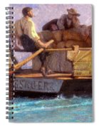 Luggage Boat Spiral Notebook