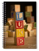 Luke - Alphabet Blocks Spiral Notebook